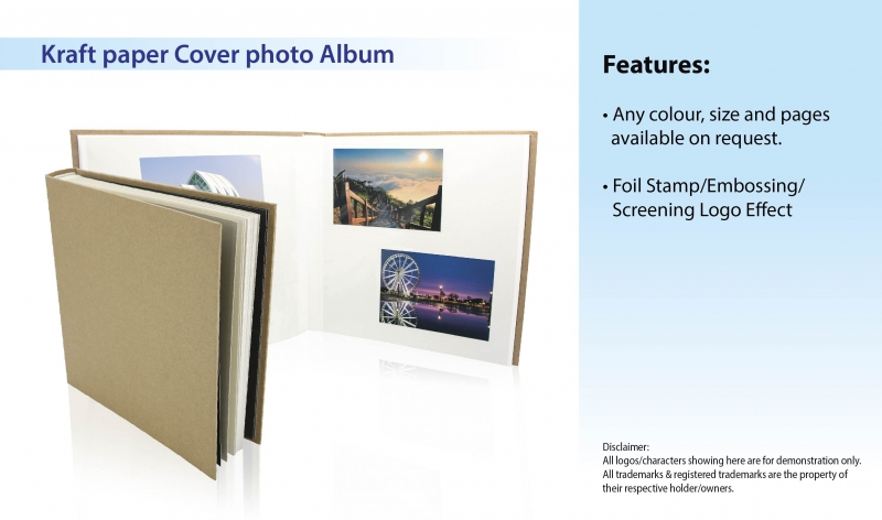 Kraft paper Cover photo Album