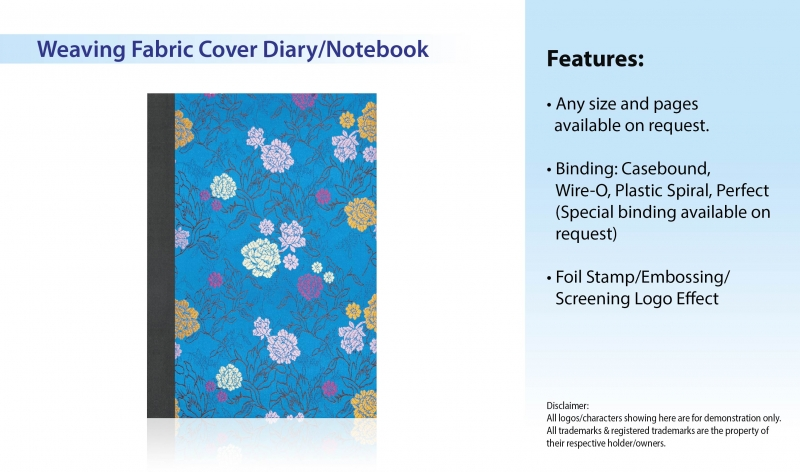 Weaving Fabric Cover Diary_Notebook