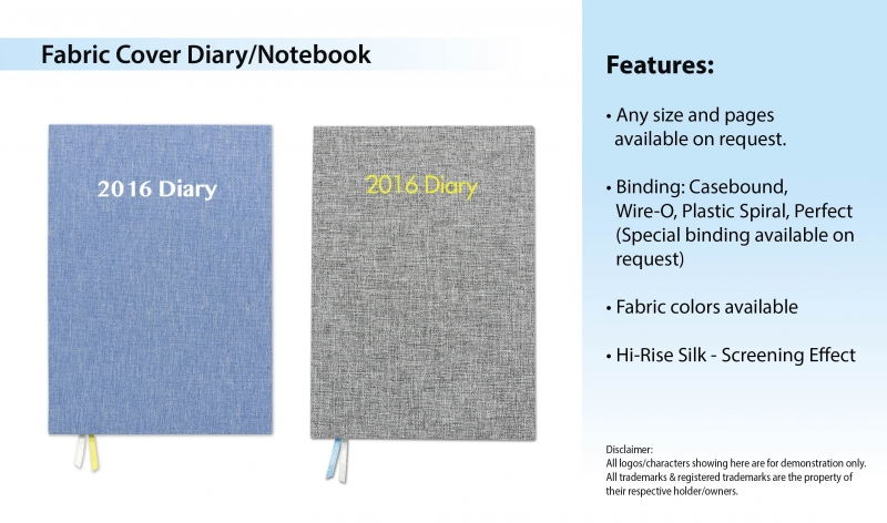 Fabric Cover Diary-Notebook